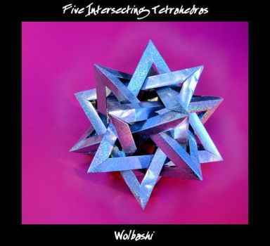 Five Intersecting Tetrahedras by wolbashi