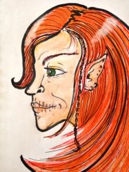 Loki Laufeyson (Flame-Hair) by broken-feathers