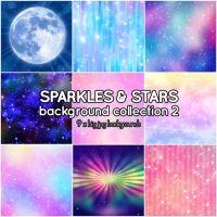 Sparkles and Stars background collection 2 by Suuz-chan