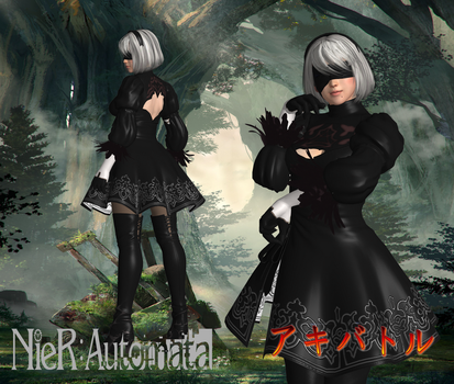 Nier Automata 2B by SSPD077 by SSPD077