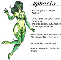 :Halo OC: A.I. Ophelia by MikuParanormal