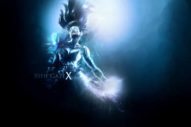 Blue Mermaid - REQUEST by Bexpix