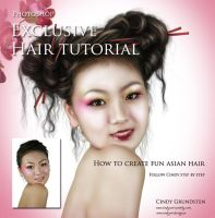 Painted Hair TutorialExclusive by CindysArt