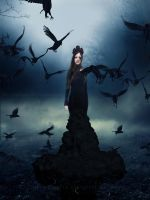 Crow Queen by PlacidAnemia