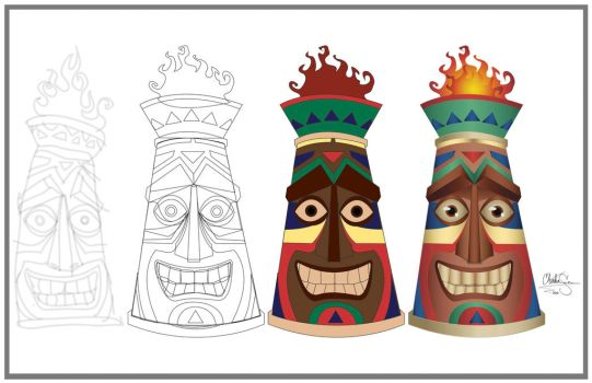 Tiki Process by WaywardMartian