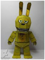 five nights at freddy's 4 Spring Bonnie papercraf by Adogopaper