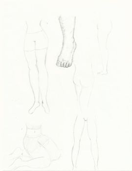 Sketches 03: Legs and Feet by BlackStar2661