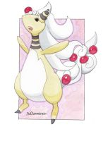 Mega Ampharos Watercolor Version