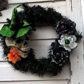 Halloween wreath by The-White-Tigress