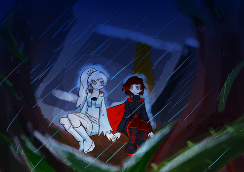 Sheltering from the Rain (WhiteRose) by PlayerError404