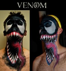Venom Face Paint by TalesOfNightWing