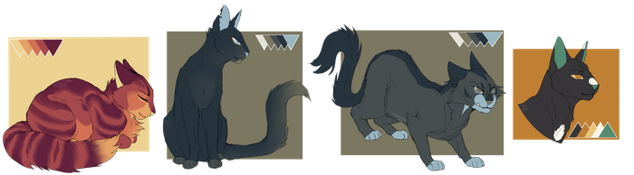 Warrior cats tumblr color pallete challenge (1) by th1stlew1ng