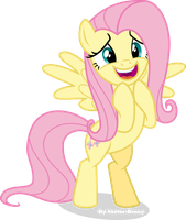 Excited Fluttershy by Vector-Brony