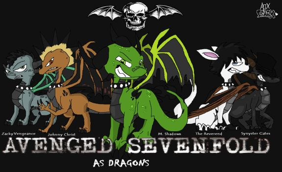 Avenged Sevenfold..as Dragons by A7XSparx