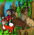 Miguel with forest friends (requested) by danielaurista