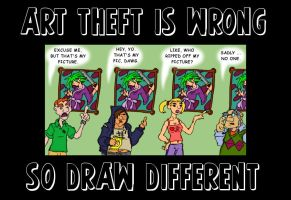 Art Theft Is Wrong by MadGoblin