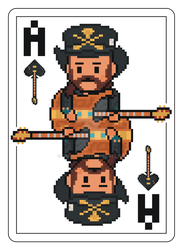 Pixel Ace of Spades Playing Card by gkillerb