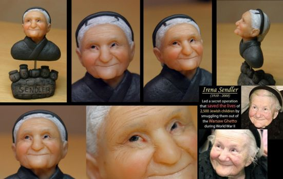 Portrait of Irena Sendler by Marika-Spijkers