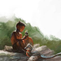 Kid Playing with micro raptor gui by Tsabo6