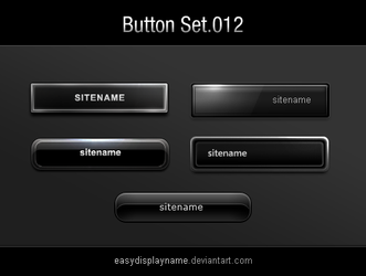 buttons.012 : 5 Black Buttons by easydisplayname
