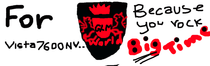 GLM World Logo by glitterapple by TheRedCrown