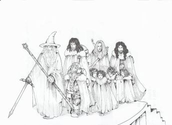 The Fellowship OF The RIng by Eilesselas