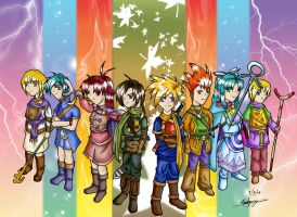 Golden Sun Group - Coloured by Loucife