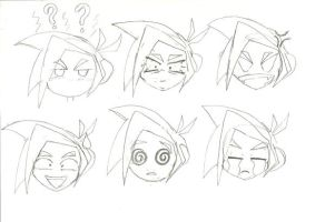Tomo's Funny Faces by peridive78