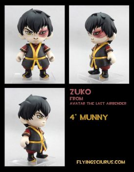 Zuko custom munny by FlyingSciurus