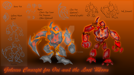 Golems Concept for Ori and the Lost Moon (PNG) by Joy144SK