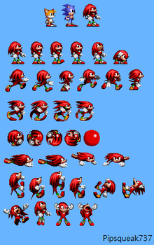 Sonic 1-Style Knuckles Sprites by Pipsqueak737