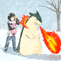 Challenging the Blizzard by Jen-Jen-Rose