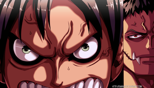 Colored 424_Luffy and Dogtooth by Enara123