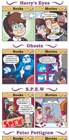 DORKLY: Harry Potter Books vs. Movies by GeorgeRottkamp