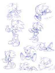 dumb sketch of sonic by Faezza
