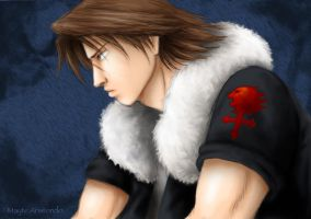 Leon from Kingdom Hearts by inuchan143