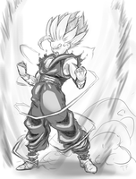 Gohan sketch by Pisces3Ferver