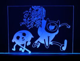 Adventure Time Acrylic LED Picture by steeph-k