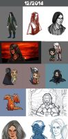 Daily doodles 2014-12 by Lysandr-a