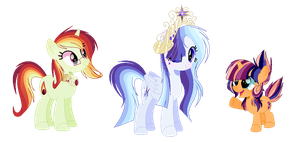 Mlp Next Gen Twisetdash Family (Smoothverse) by 6SixtyToons6