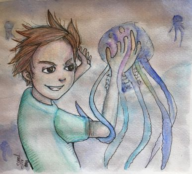 -Jellyfish boy-  by Sarel