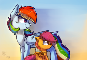 Rainbow Dash and Scootaloo #1 by SupLoLNope