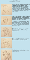 drawing anime girl tutorial by Silent--Haze