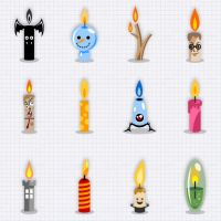 Various Birthday Candles by bevouliin