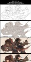Step by Step - Hongxue and Luxun by DomDozz