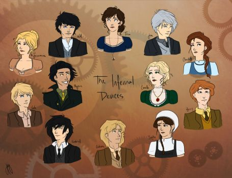The Infernal Devices Characters by blindbandit5