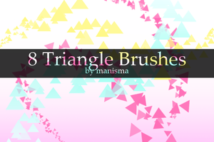 Triangle Brushes by Manisma
