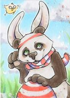 Mr Panda aka the Easterbunny ACEO by uniquorned