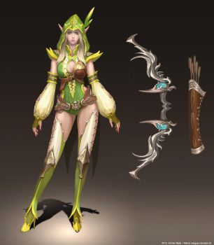Archer Bella concept art by groovequai