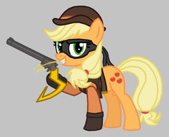 Applejack as Tennessee Kid Cooper by Death-Driver-5000